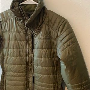 Olive green north face jacket